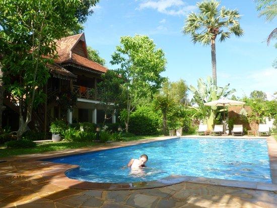 La Palmeraie d'Angkor: Les chambres donnent sur la piscine
