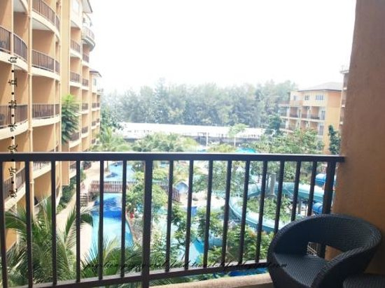 Gold Coast Morib International Resort: water theme park view from room