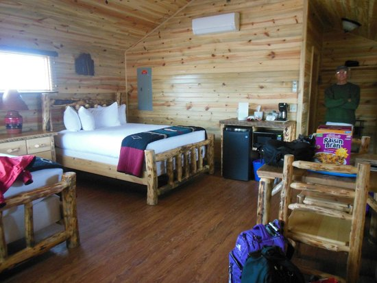 Cedar Pass Lodge : Inside cabin w/2 queen beds