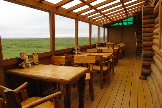 """Lazy Bear Lodge : View From """"Porch"""" Dining Area"""
