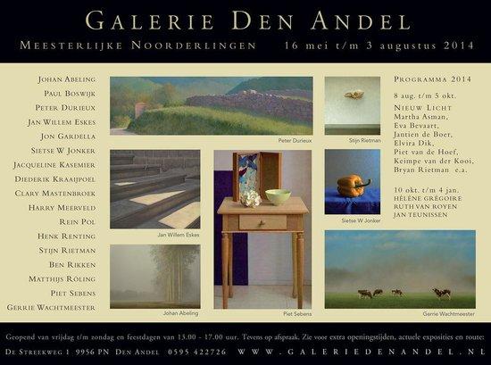 Galerie Den Andel: Deze tentoonstelling heb wij van genieten