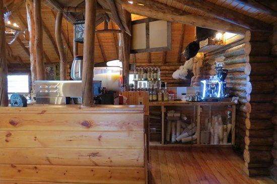 Lazy Bear Lodge : Coffee Area