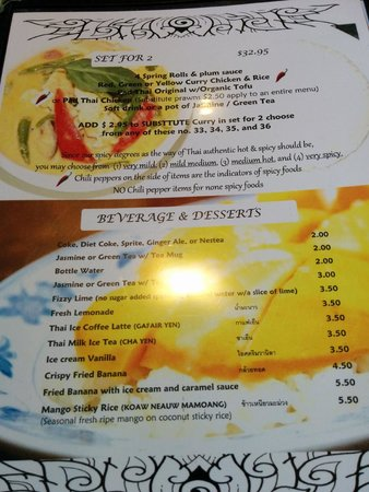 Menu 1 picture of aroy thai kitchen port moody for Aroy thai cuisine menu