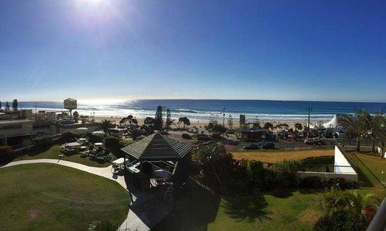 Surfers International: veiw or hotel grounds & beach