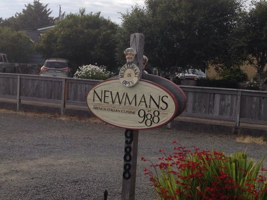 Newmans at 988 : The sign out front.
