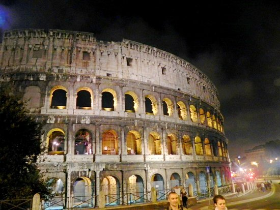 Rome by Segway : The Colosseum at night...