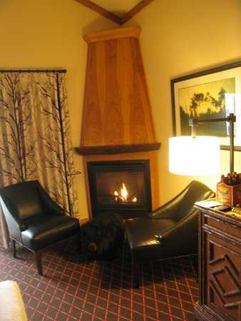 The Edgewater, A Noble House Hotel: Fireplace in the room