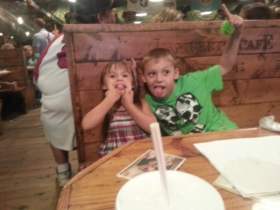 Lambert's Cafe III: silly faces before eating