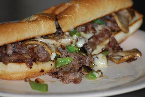 Coffee Shop Cafe : Philly steak sandwich