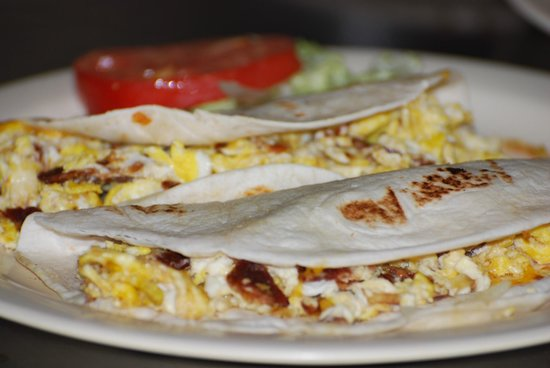 Coffee Shop Cafe: Breakfast tacos can be ordered any time of day!