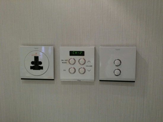 Hua Chang Heritage Hotel : Music controls in the bathroom,  great for a dip in the bathtub with relaxing music.