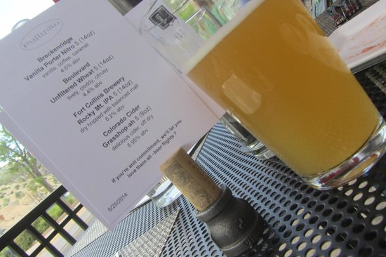 The Pullman: Beer Menu with Unfiltered Wheat
