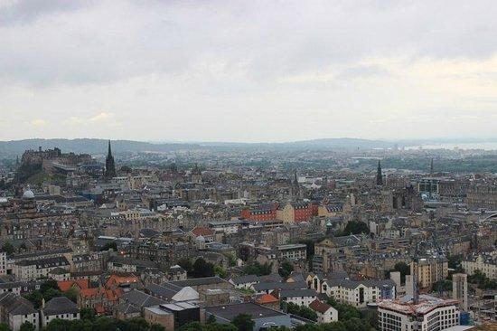 Arthur's Seat: vista su Edinburgo