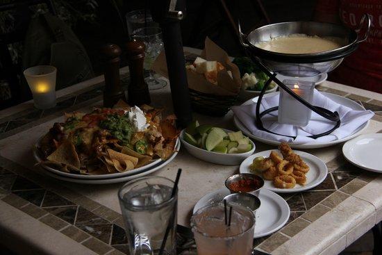 Rio Chama Steakhouse: Nachos, calimari, and Velveeta fondue