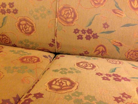 Embassy Suites by Hilton Denver - Tech Center: Ancient sagging couch in room