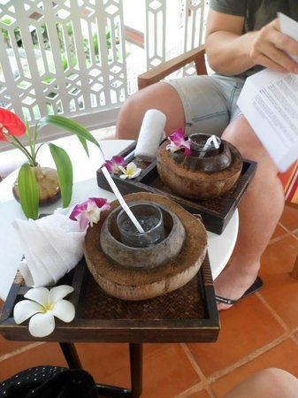 Centara Villas Samui: Welcome drinks