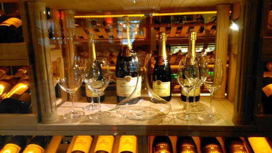 The Riviera Hotel: Wine Cellar with well selected Wines