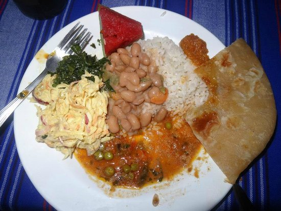 Worlds Collide Africa House: Pamoja Cafe (dinner delivered to Pamoja Guesthouse for our group)
