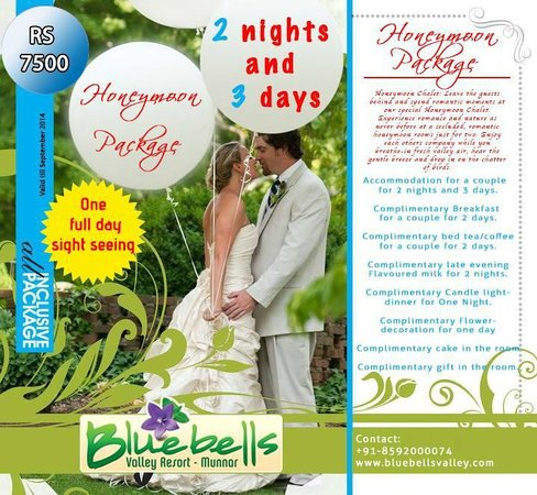 Blue Bells Valley Resort: Special Honeymoon offer from Bluebells valley resort