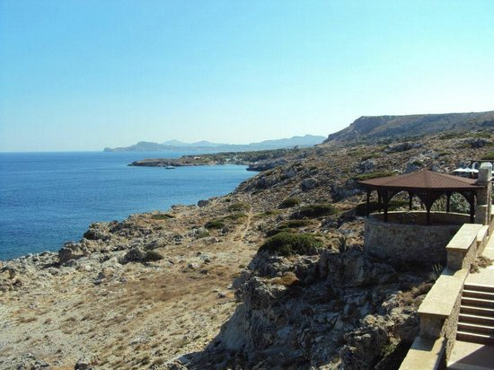 Kalithea Horizon Royal: Ausblick vom pool zum Meer