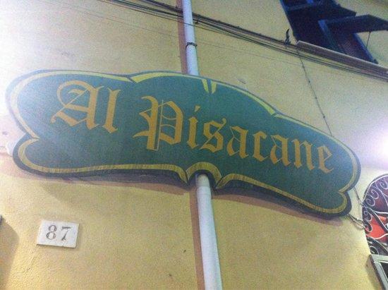 Pizzeria al Pisacane : Al Pisacane in Genoa. Big&thin pizza.  No English menu.