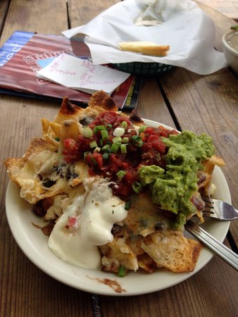 Sprouts: 'Ugly gooey nachos' or something like that.  Excellent! Made with Sesame tortilla chips.