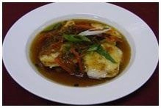 NONG'S Restaurant : Grill Bara with Ginger sauce