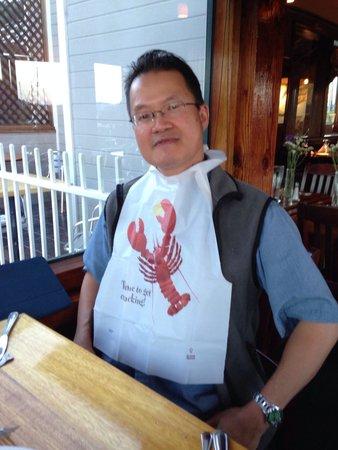 Seafood Peddler : Preparing to eat lobster.