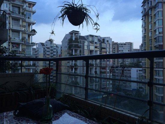 ChengDu Xiao Jing Si Fang Cai: The terrace where we had dinner