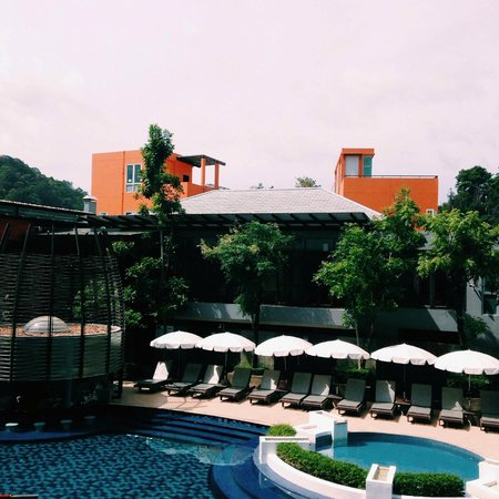 Red Ginger Chic Resort: View from room balcony