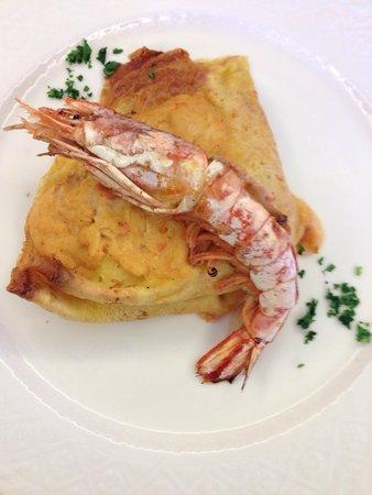 Hotel Bellavista: crespella con crostacei!!! complimentissimi sl cuoco!!