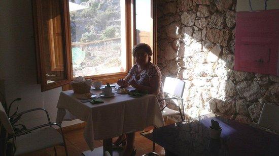 Hospederia Bajo el Cejo: Desayunando con trankilidad