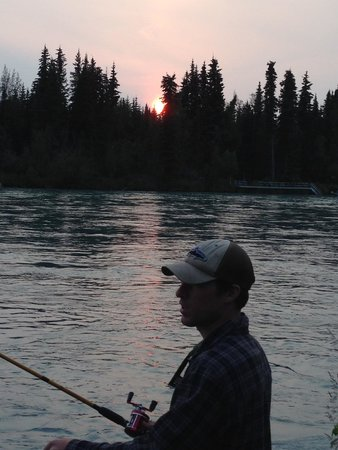 Sunset at 11pm on the Kenai River