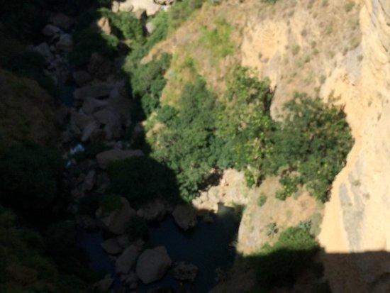 Puente Nuevo Bridge: Tajo gorge below