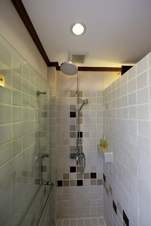 Hotel Villa Deux Rivieres : Rain showers in all rooms except Luxurious