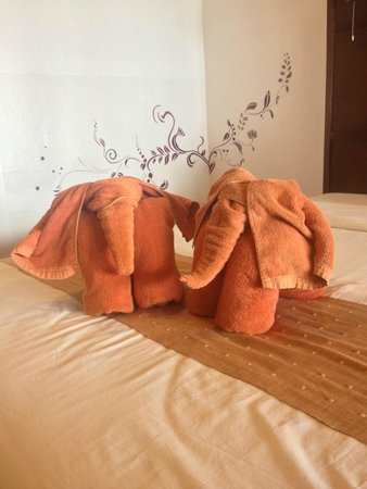 Twin Bay Resort : Towel origami