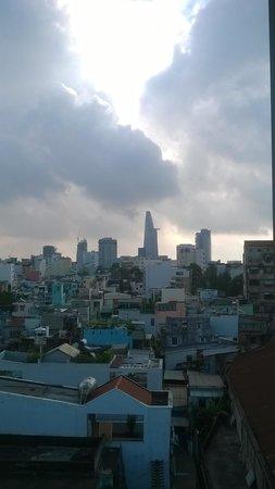 Green Suites Hotel: La vista dalla terrazza in cima all'edificio