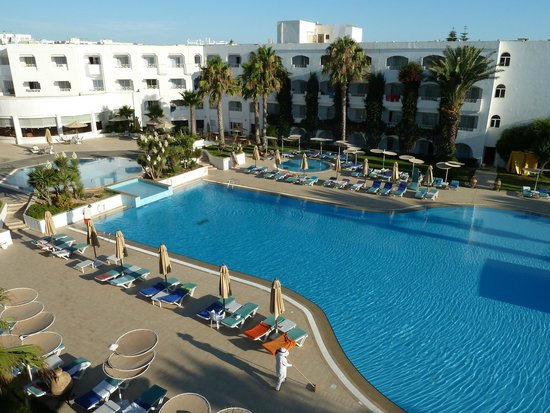 Thalassa Mahdia : La piscina, dal terrazzino della nostra camera