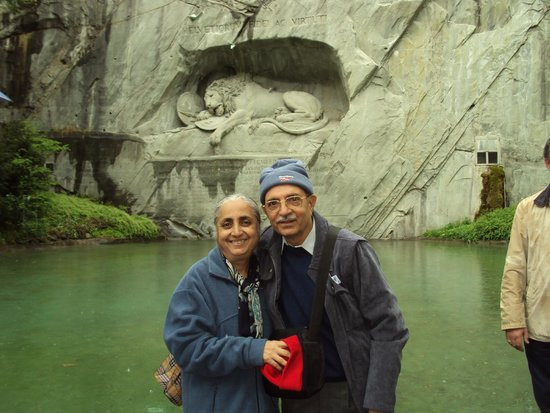Cheese Factory at Engelberg : Jaloo Maneck at The Dying Lion of Lucerne, Switzerland.