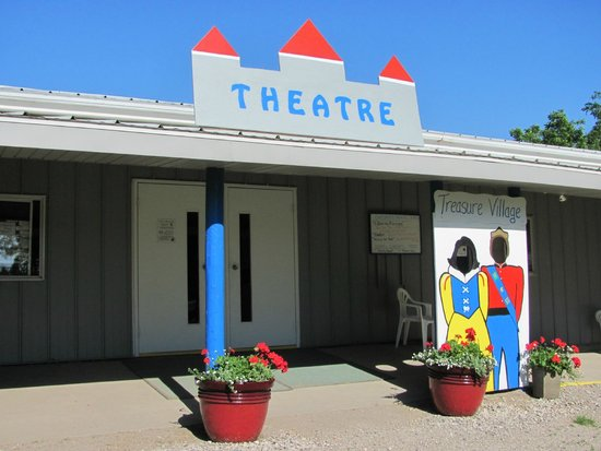 Milford, IA: Theatre entrance welcomes you!