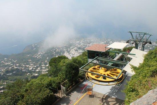 Mount Solaro: View down from Monte Solaro