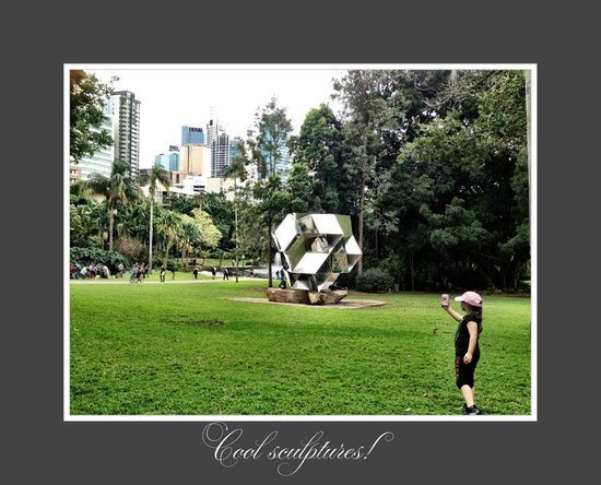 Royal On The Park: Sculptires in the Botanical Gardens.