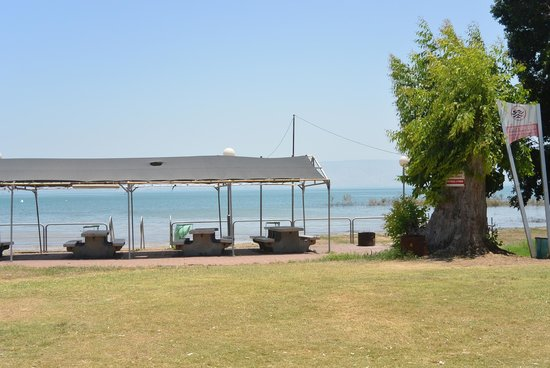 Our view from the tent towards the sea of galilee