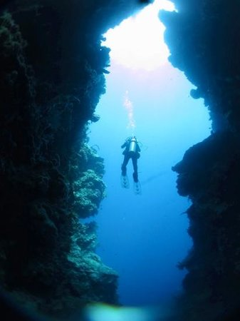 The Village Bunaken: Large cavern at Cela Cela dive site