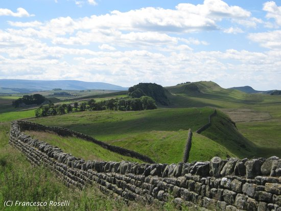 Hadrian's Wall: Un tratto del vallo vicino Vercovicium (Housesteads)