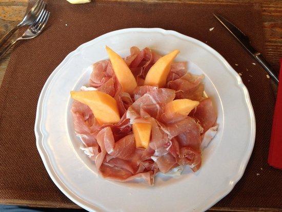 Hotel Garden: Prosciutto e melone