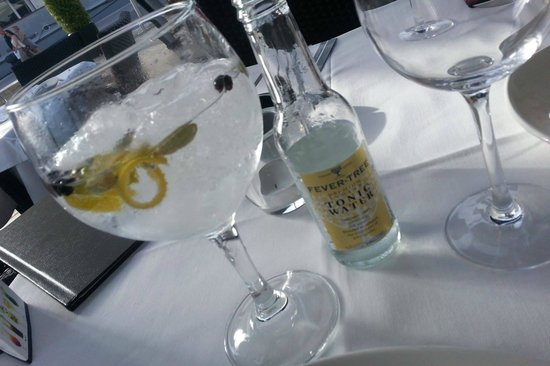 Toro Muelle Uno: Beefeater 24 Gin Tonic. Poured to perfection.