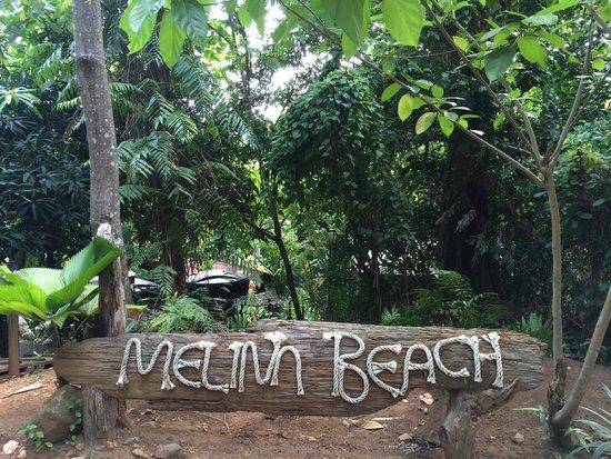 Melina Beach Resort Pulau Tioman Malaysia: Arrivée à Melina Beach par la jungle (derrière)