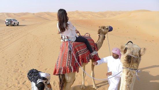 Qasr Al Sarab Desert Resort by Anantara: My first camel ride.