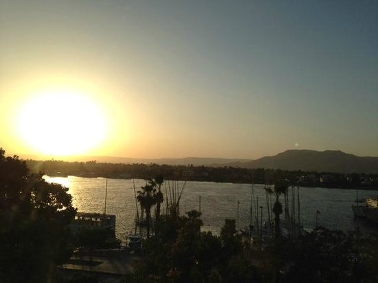 Sofitel Winter Palace Luxor: Sunset from the Room